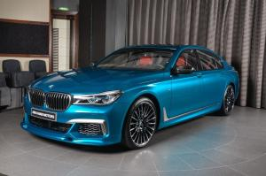 BMW M760Li Individual in Long Beach Blue by 3D Design and Abu Dhabi Motors 2017 года